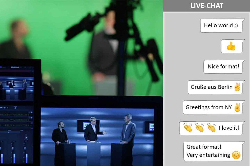 Chatten Sie mit Ihren Teilnehmern in der Videokonferenz