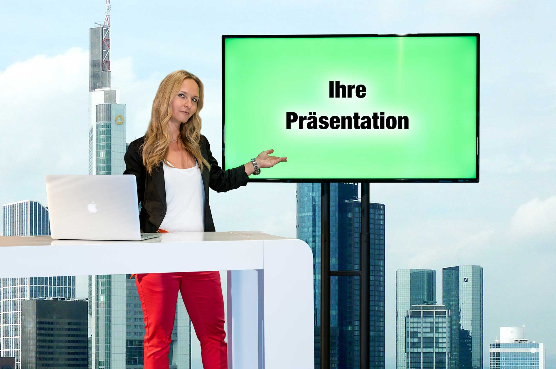 Corporate Events virtuell im Videokonferenz Studio Frankfurt