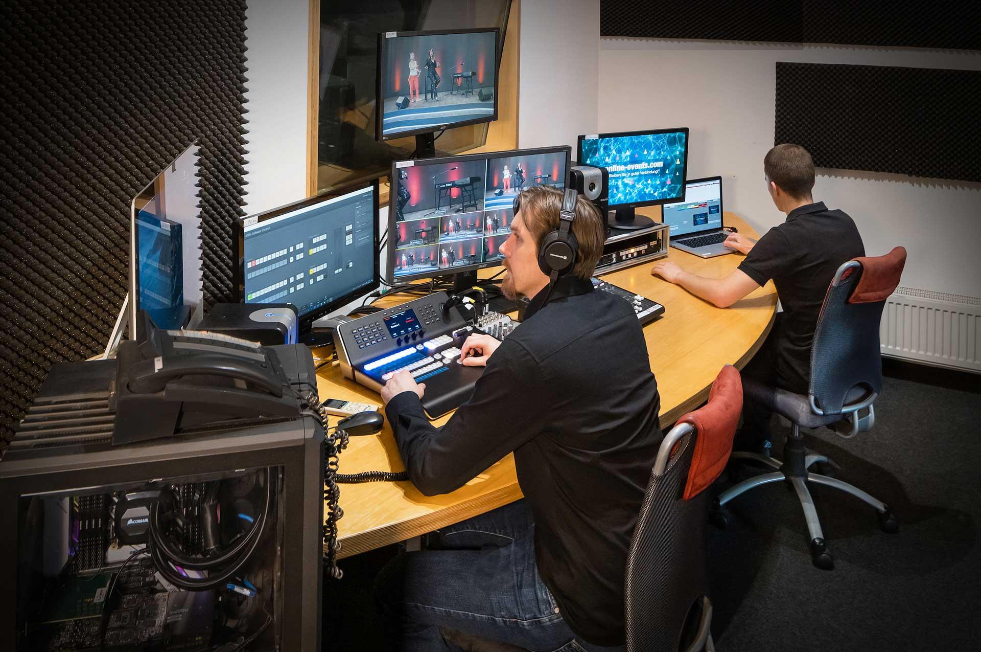 Regie & Technik für Streaming Events und virtuelle Veranstaltungen