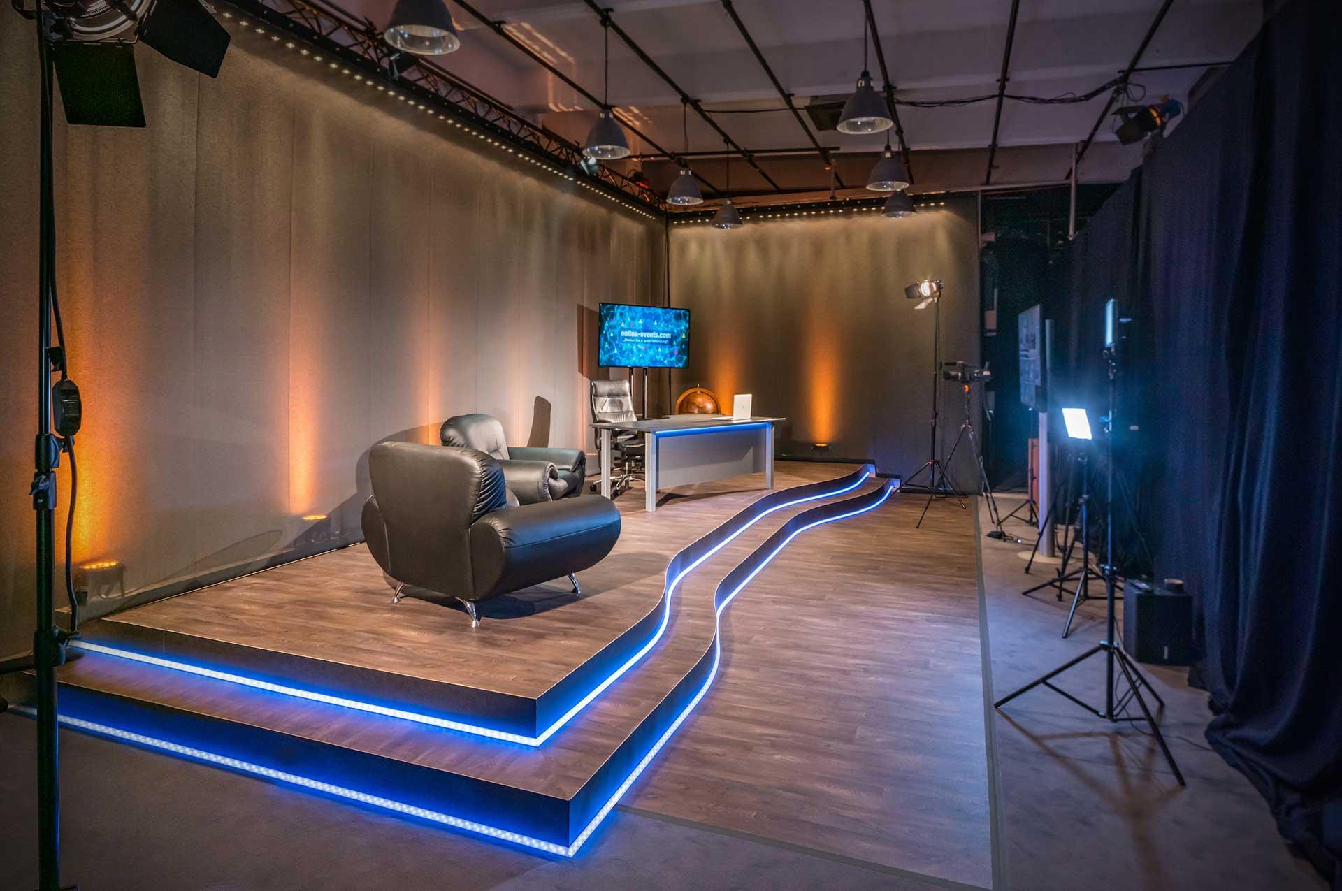 Modernes Streaming und Event Studio für virtuelle Veranstaltungen